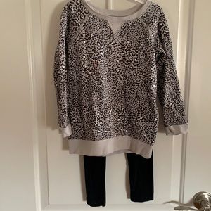 Cute Carter's Cheetah Sweatshirt with Leggings